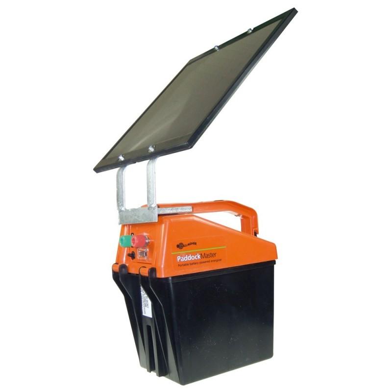 Energizador Paddockmaster Recargable con Panel Solar
