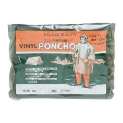 Poncho PVC color verde