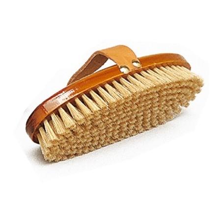 Bruza de madera con pelo natural