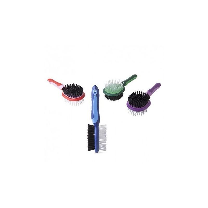 Cepillo Lexhis Soft Line para crines y cola doble uso
