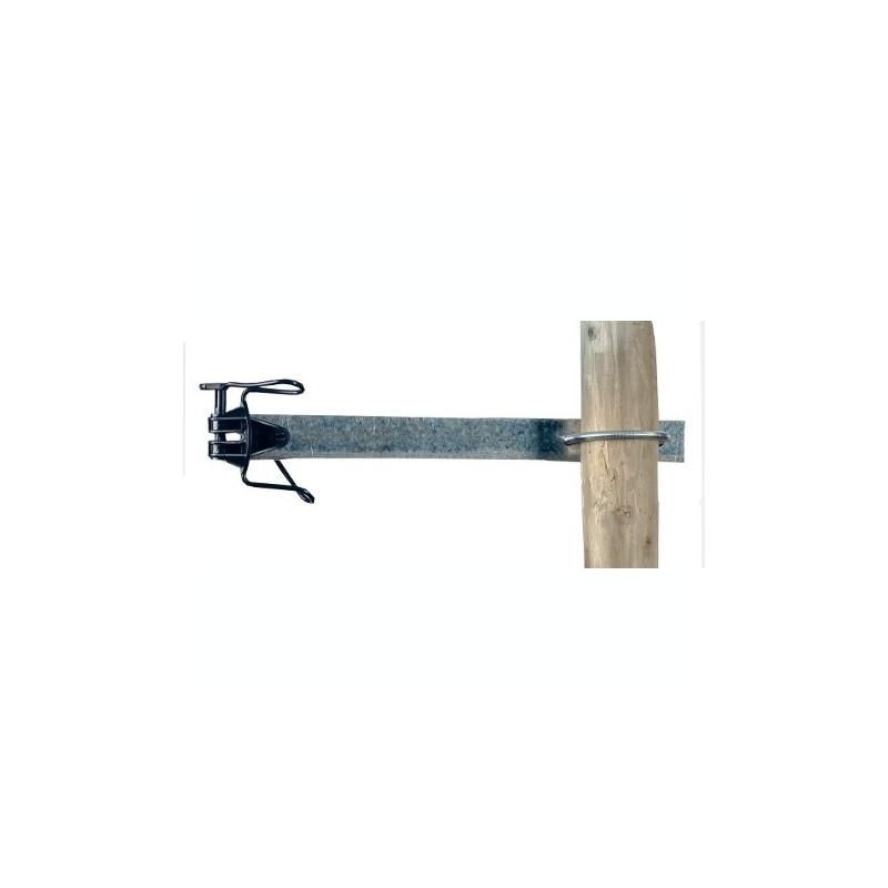 Aislador separador 20 cm para poste de hierro