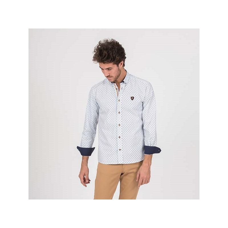Camisa Hombre C/B Zafiro Semientallada