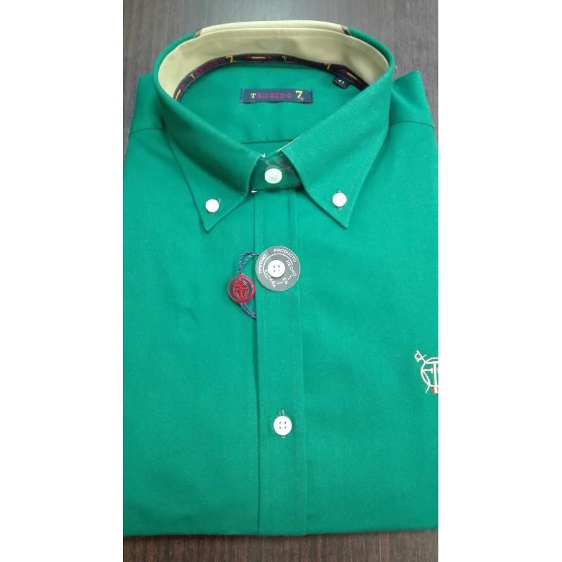 Camisa Hombre Manga Larga Verde