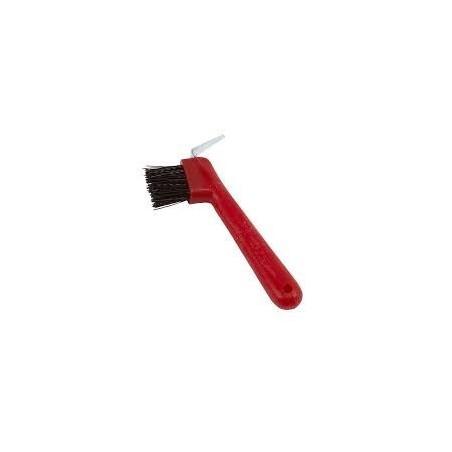 Limpia cascos con cepillo, limpieza del caballo
