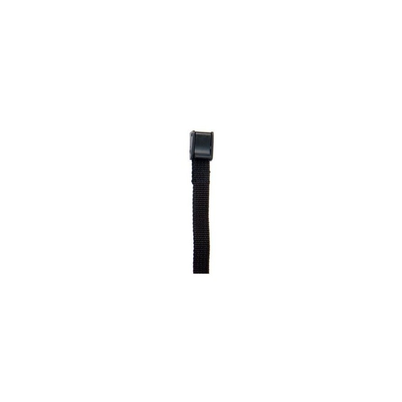 Correa espuela inglesa nylon fino negro con clip