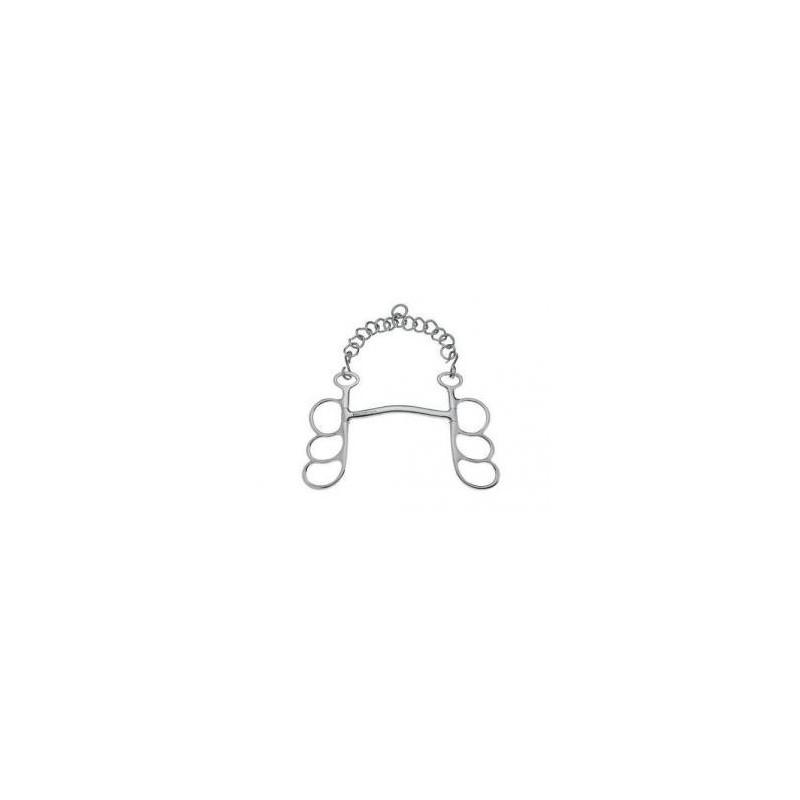 Bocado Sefton Barcelona 3 anillas con embocadura arco